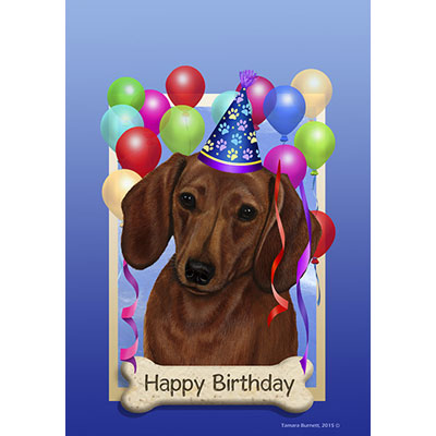 happy birthday dachshund ; dachshund-red-580391