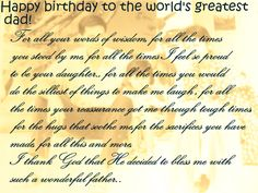 happy birthday dad from daughter messages ; 8bf13e345bb762640c358dfe0c91b485--birthday-wishes-for-him-happy-birthday-messages