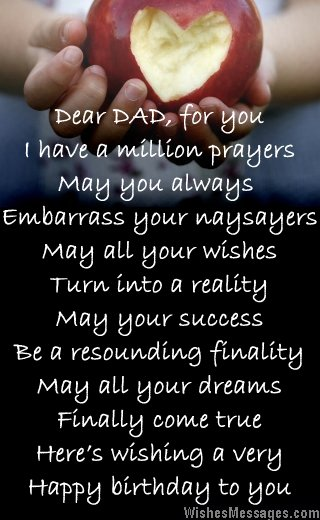 happy birthday dad from daughter messages ; Sweet-birthday-card-poem-for-dad