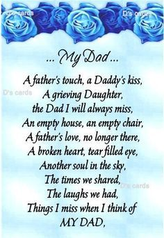 happy birthday dad in heaven poems ; 318239ab9168a8019c85958543209336