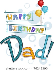 happy birthday dad pictures ; text-featuring-birthday-greetings-dad-260nw-76243390