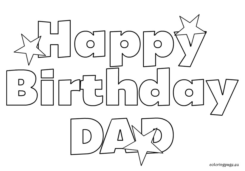 happy birthday daddy cards printable to color ; a2a85d0c7add92b5d1563999decf6e3e