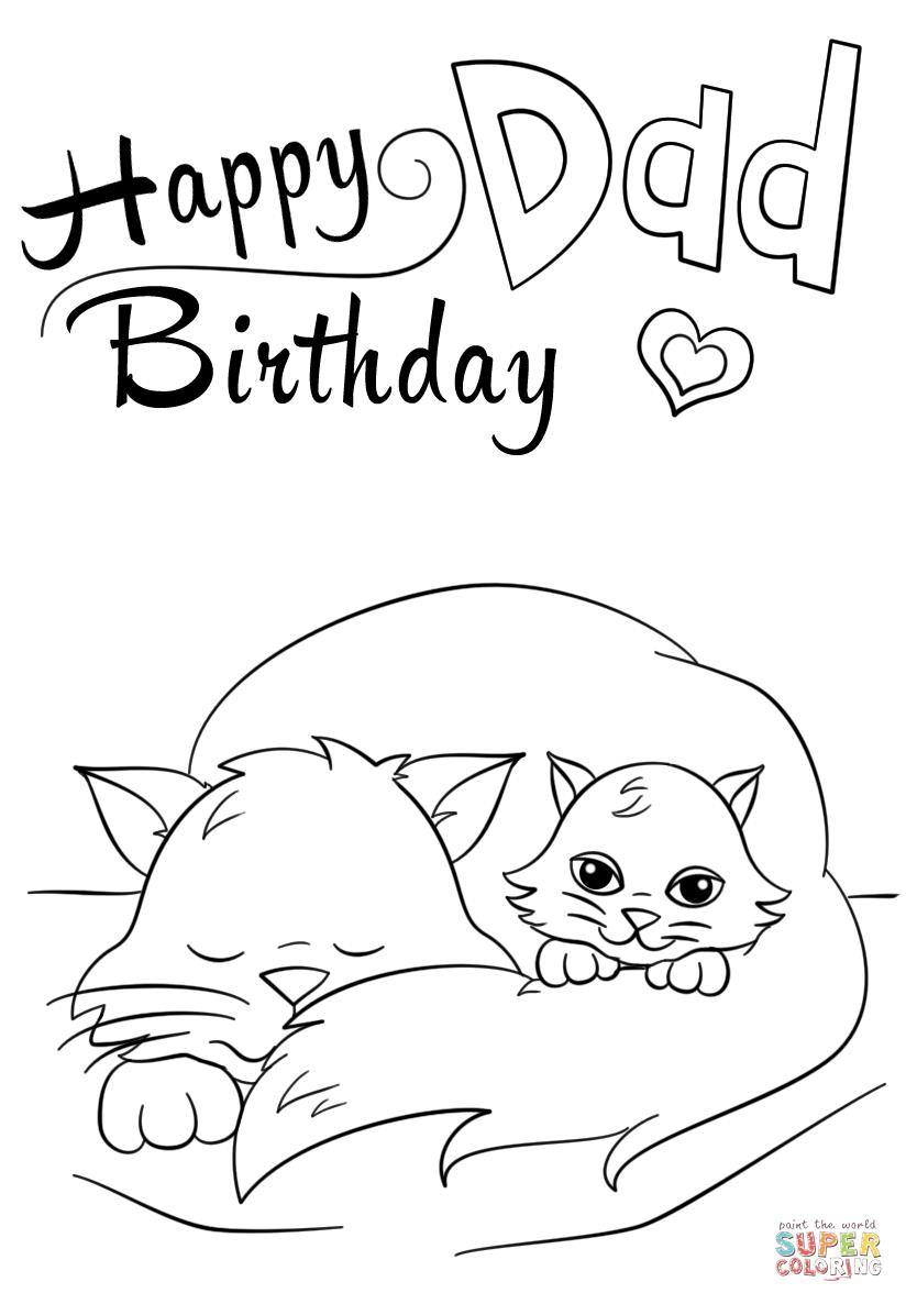 happy birthday daddy cards printable to color ; happy-birthday-dad-coloring-page