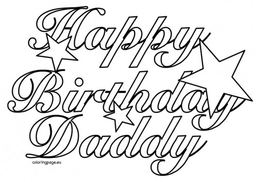 happy birthday daddy cards printable to color ; happy-birthday-dad-drawing-4