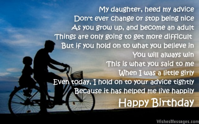 happy birthday daughter from dad ; Birthday-poem-to-father-from-daughter