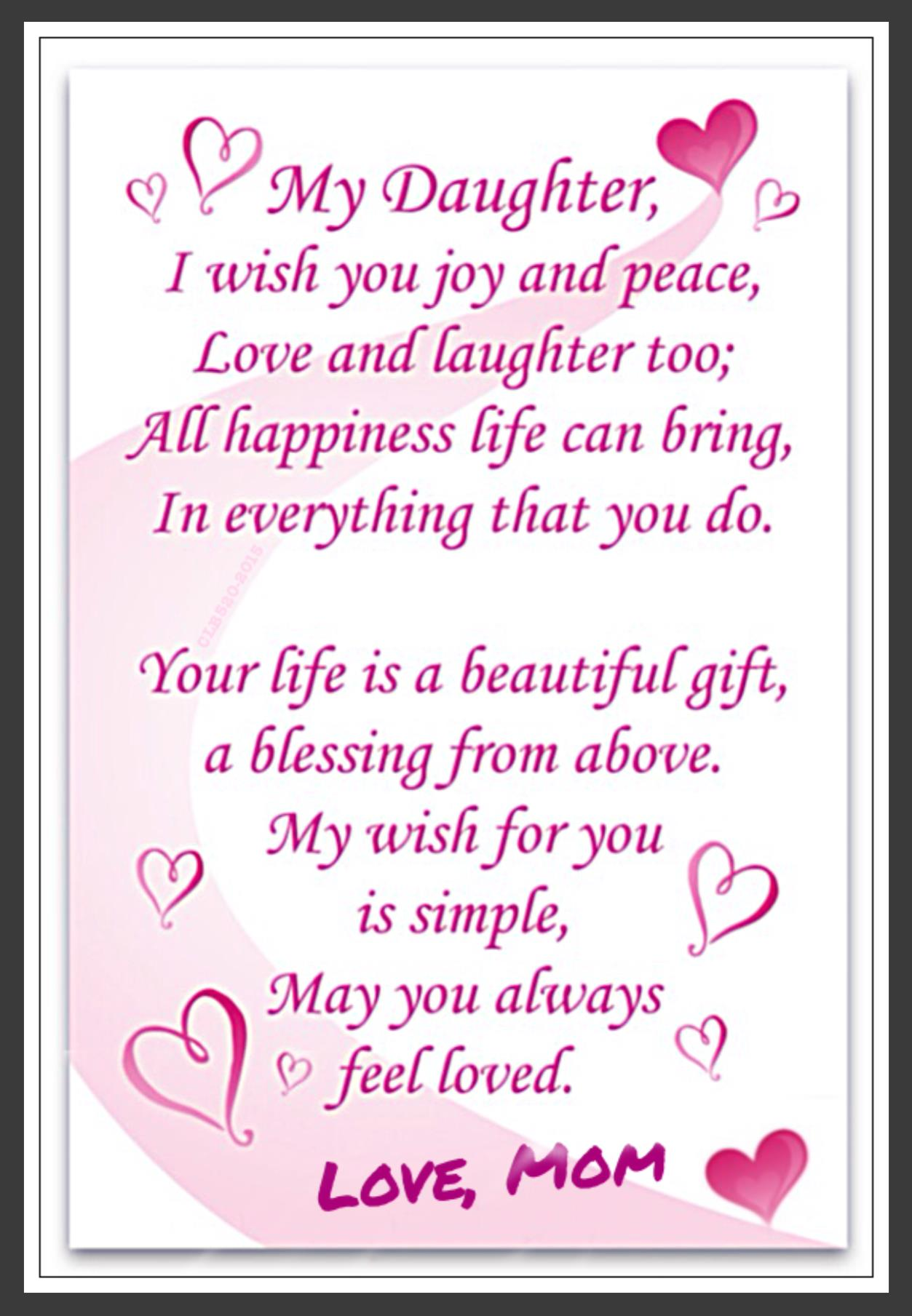 happy birthday daughter quotes ; 60e632a26d12724dee382d27d6c46169
