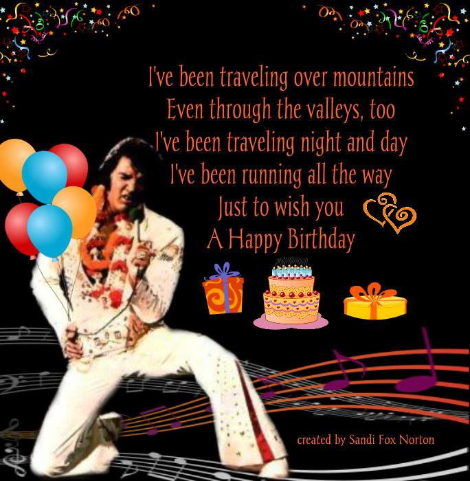 Happy Birthday Elvis Card Free Cards Presley