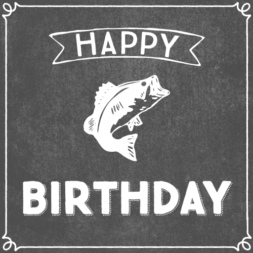 happy birthday fisherman card ; 323142