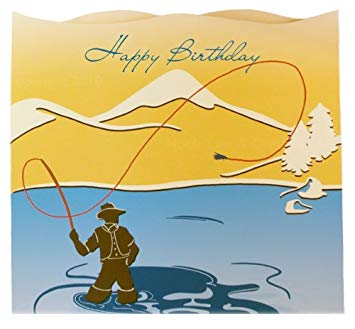 happy birthday fisherman card ; 51bQ64xUEiL