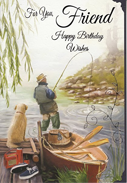 happy birthday fisherman card ; 91dKnsEWKmL