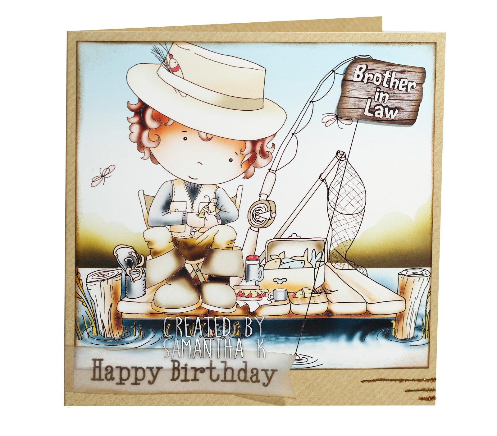 happy birthday fisherman card ; fisherman%252Bcard