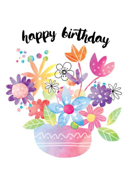 happy birthday flowers clipart ; 611fa21b03859867be6174e15d414acc--happy-wishes-happy-birthday-wishes