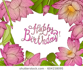 happy birthday flowers clipart ; happy-birthday-vector-congratulation-card-260nw-604158095
