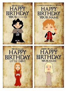 happy birthday game of thrones card ; s-l300