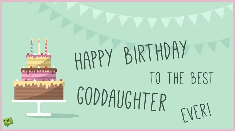 happy birthday goddaughter ; Birthday-card-for-goddaughter-with-pic-of-cake-and-garlands