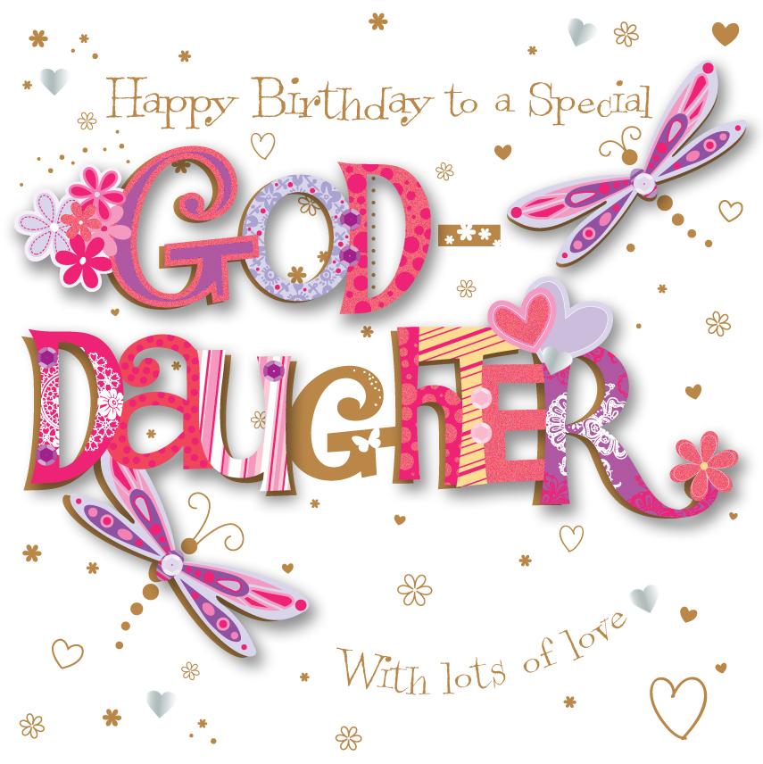 happy birthday goddaughter ; MWE30091_GD