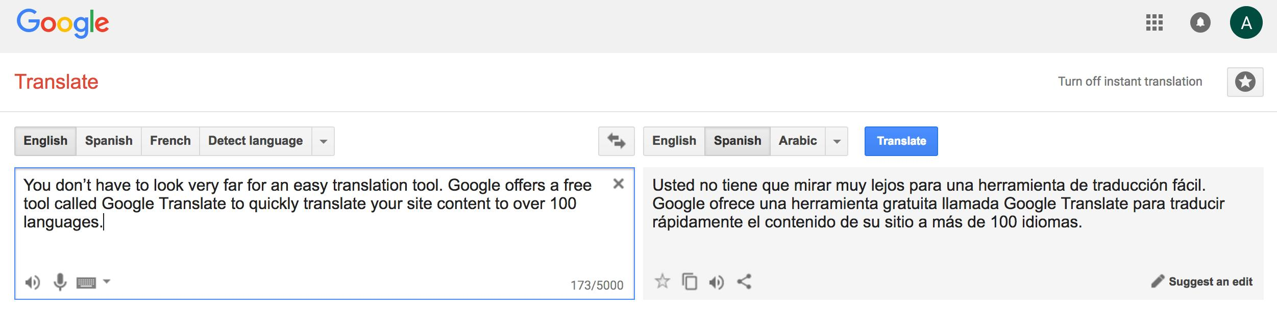 happy birthday google translate ; Google-Translate-Crazy-Egg