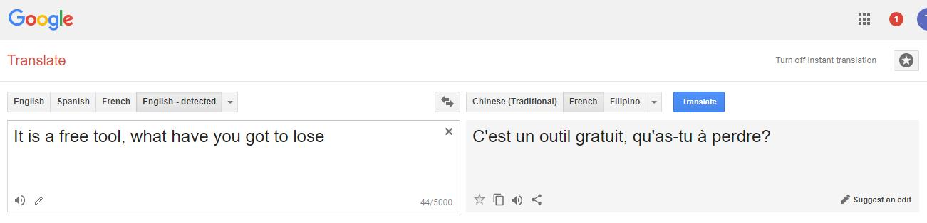 happy birthday google translate ; google-translate-from-english-to-french