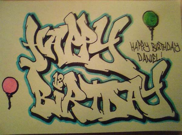 happy birthday graffiti ; 71a0de28a46e1f55755e3e883f8a8c52