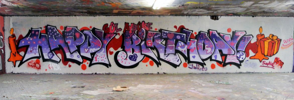 happy birthday graffiti ; 9a5ac5d3c6cd2b903359ba355d05fd2a