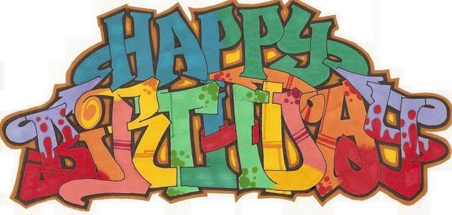 happy birthday graffiti ; HappyBirthday-graffiti
