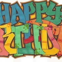 happy birthday graffiti ; HappyBirthday