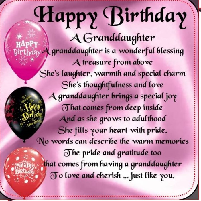 happy birthday granddaughter images for facebook ; Granddaughter-birthday-images-2018