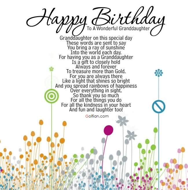 happy birthday granddaughter quotes ; Birthday-Wishes-To-Write-For-Sweet-Granddaughter