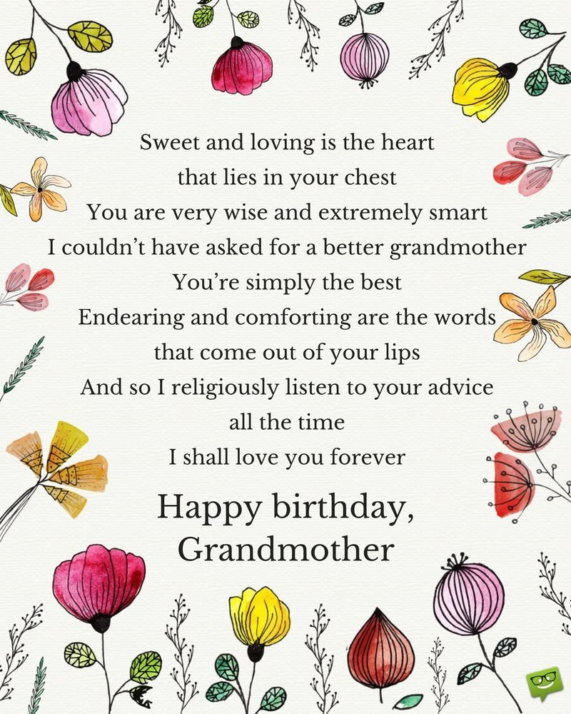 happy birthday grandmother ; Birthday-poem-for-grandma