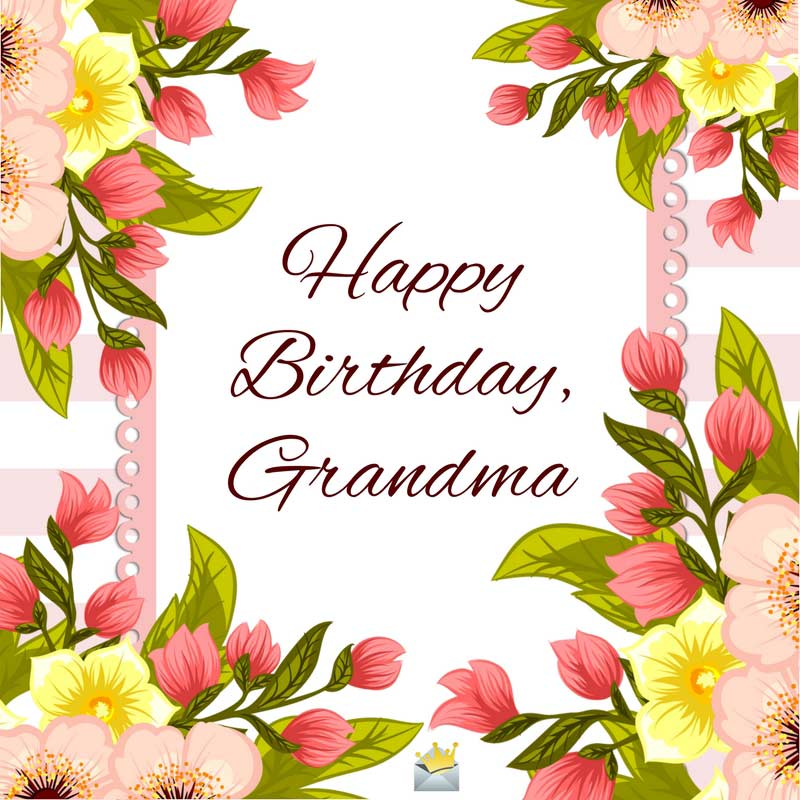 happy birthday grandmother ; Floral-birthday-card-for-grandmother