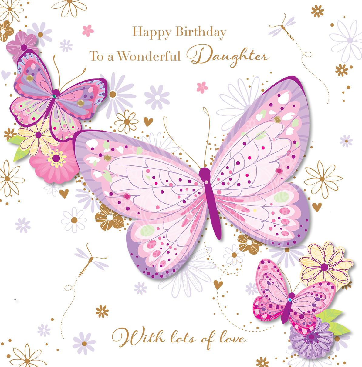 happy birthday greeting cards for daughter ; SDE60020_F