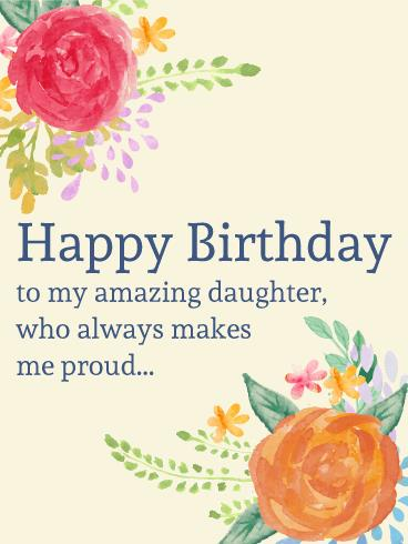 happy birthday greeting cards for daughter ; birthday-wishes-daughter-greeting-card-to-my-amazing-daughter-painting-birthday-flower-card-birthday-download