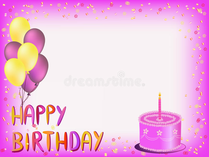 happy birthday greeting words ; happy-birthday-greeting-card-colorful-words-balloons-cake-illustration-49842591