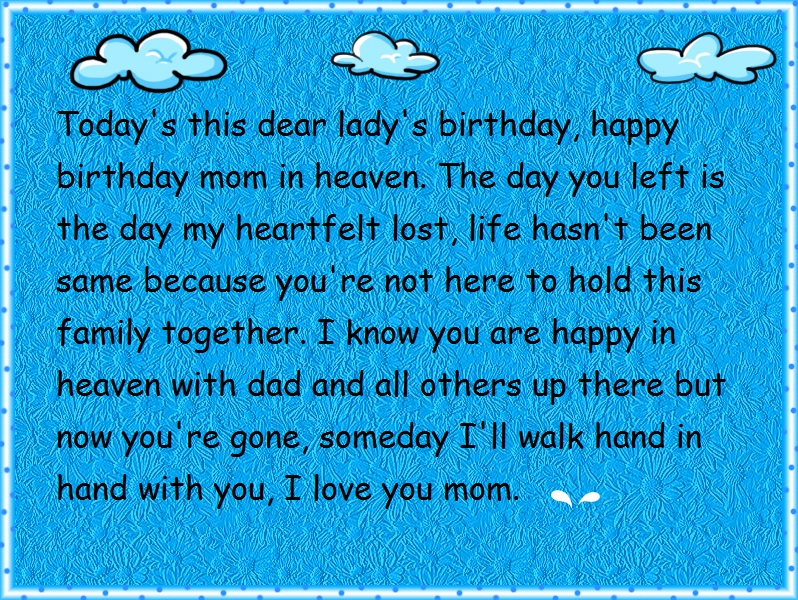 happy birthday in heaven mom quotes ; mom-in-heaven-birthday-wishes