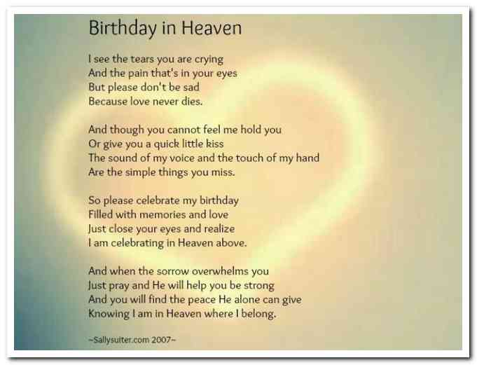 happy birthday in heaven mom quotes ; sad-birthday-poems-for-mom
