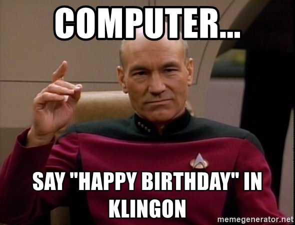 happy birthday in klingon ; 61338879
