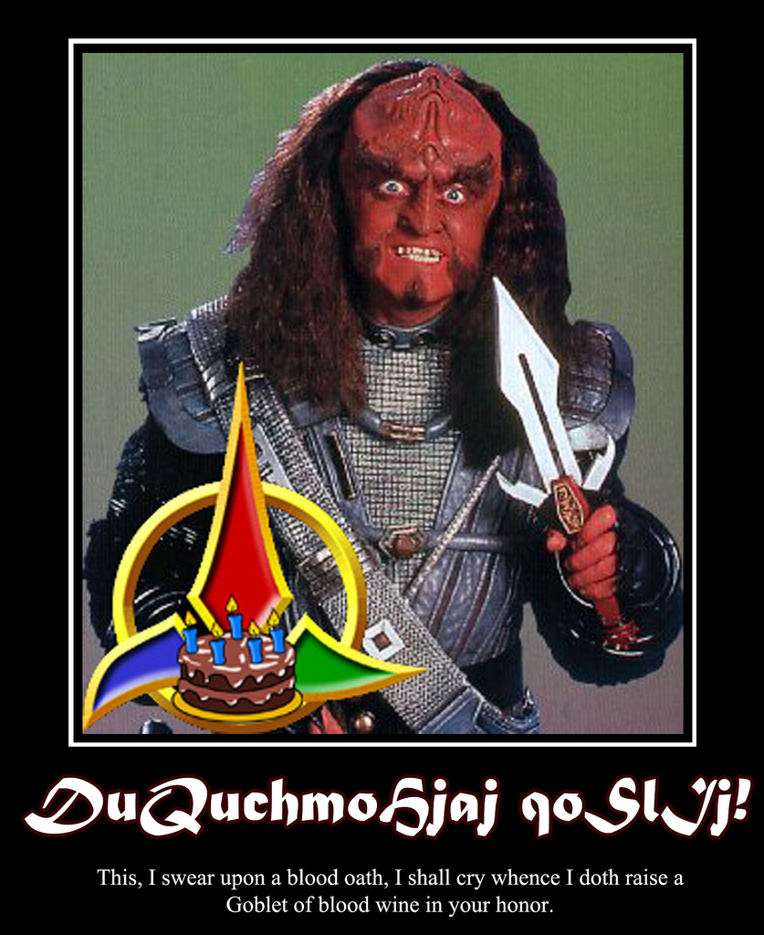 happy birthday in klingon ; 6514566273_60b02a180d_b