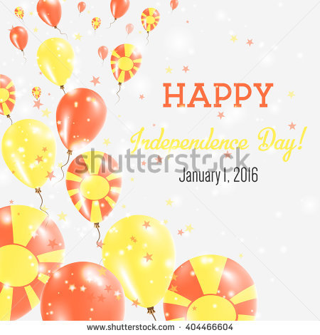 happy birthday in macedonian ; stock-vector-macedonia-the-former-yugoslav-republic-of-independence-day-greeting-card-flying-balloons-in-404466604