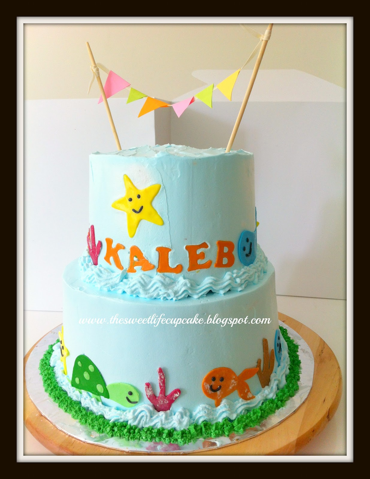 happy birthday kaleb ; Sea+Theme+cake