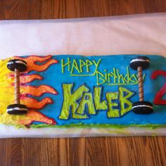 happy birthday kaleb ; a821246cad7123091e21989b3e059203--skateboard-cake-fun-cakes