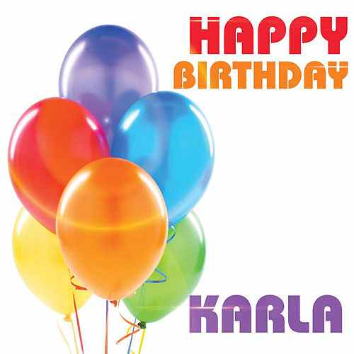 happy birthday karla ; 500x500