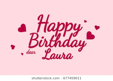 happy birthday laura images ; happy-birthday-laura-background-card-260nw-677459011