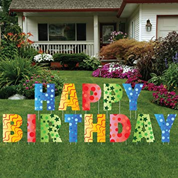 happy birthday lawn signs ; 815IN%252Bt8CWL