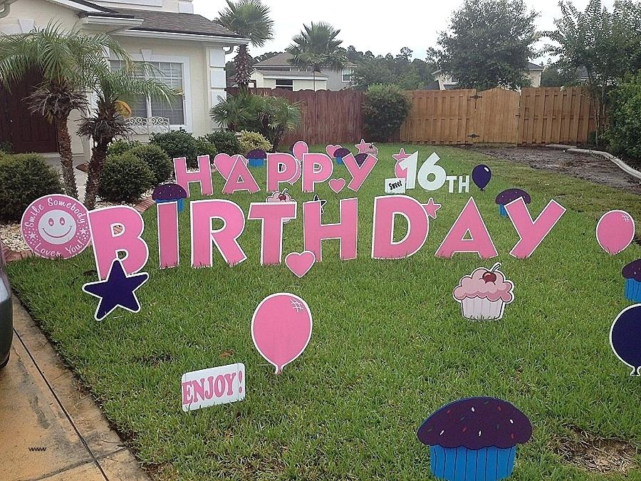 happy birthday lawn signs ; birthday-lawn-decorations-hamilton-ontario-flamingo-lighted-decoration-new-happy-letters-signs-yard