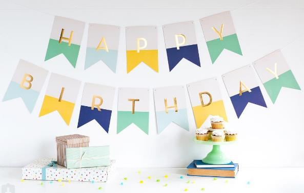 happy birthday letter design ; 0011919_happy-birthday-banner-in-blue-mint-and-yellow