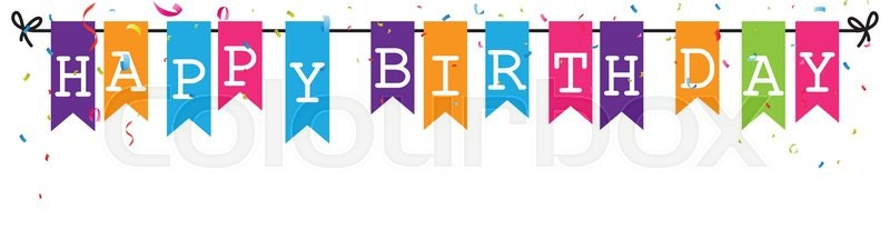 happy birthday letter design ; 19427700-bunting-flags-banner-with-happy-birthday-letter