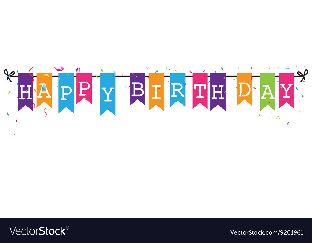 happy birthday letter design ; bunting-flags-banner-with-happy-birthday-letter-vector-9201961