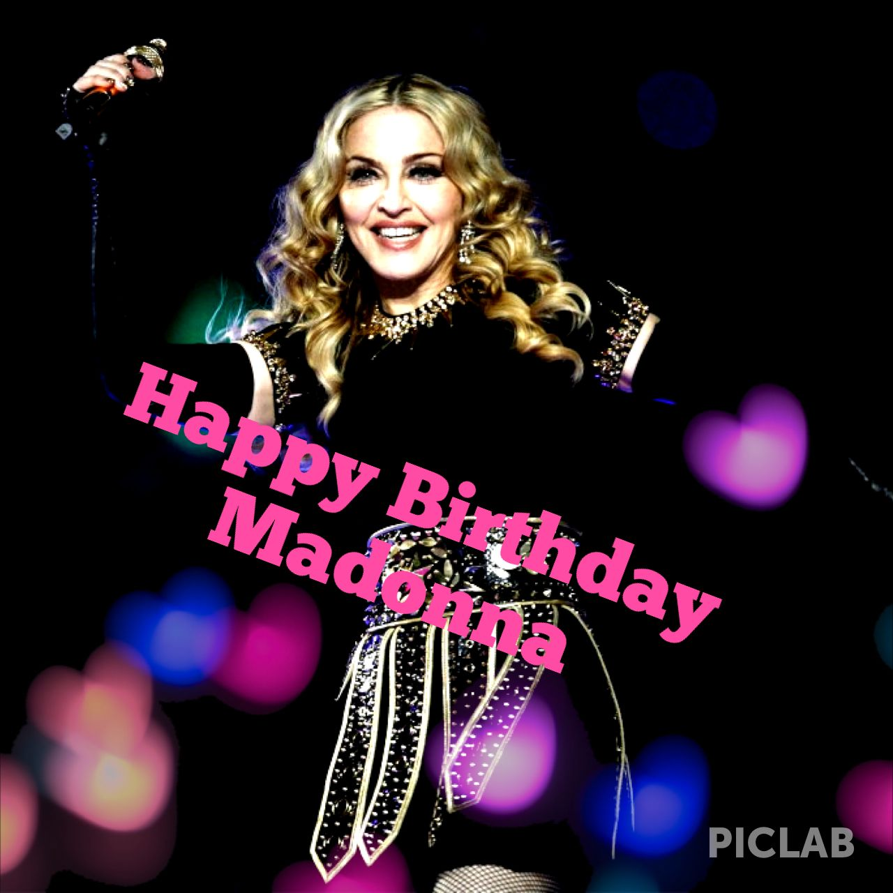 happy birthday madonna ; MO