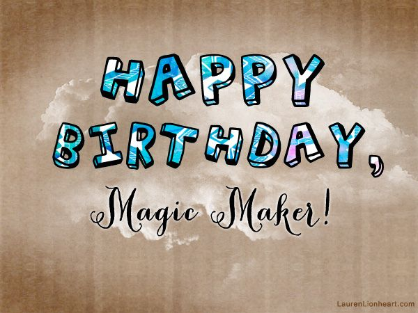 happy birthday magic image ; 27d973437e28678b7e04719e19a217a2