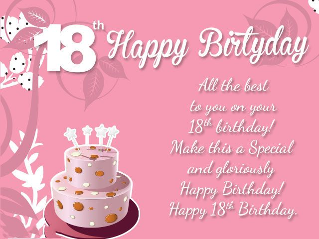 happy birthday message for baby girl ; Best-18th-Birthday-Wishes-and-Messages-640x480